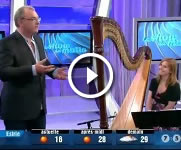 Stéphane Gendron plays the harp
